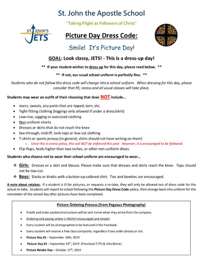 Picture Day Dress Code